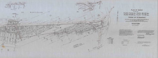 Plan of Survey No. 10317 from Oct 1969
