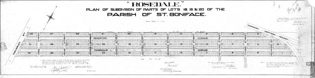 Subdivision Plan No. 1295 from 1907
